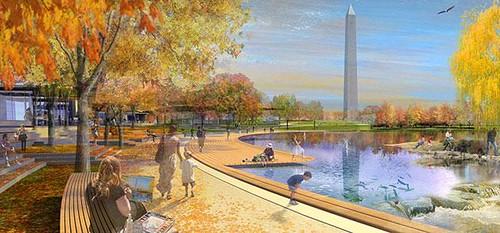 proposal for Constitution Gardens (by: Andropogon + Bohlin Cywinski Jackson via Smithsonan Institution)