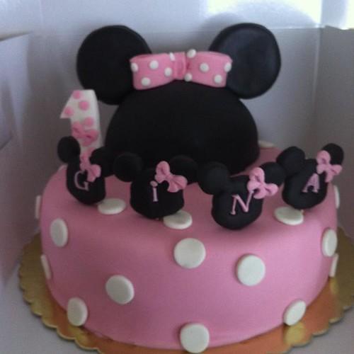 Minnie Mouse 1 yaş doğumgünü pastası by l'atelier de ronitte