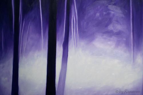 "Ernesto Morales: ""Bosque"" 2012 olio su tela 50x150 (particolare)"