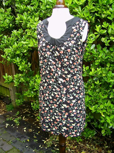 flowery tunic dress