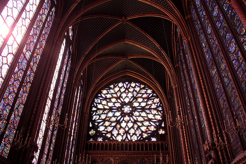 la Sainte Chapelle rose window