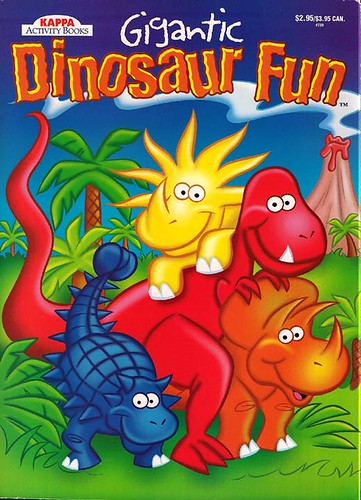 KAPPA ACTIVITY BOOKS :: 'Gigantic Dinosaur Fun'  ii .. art by Brown (( 199x ))
