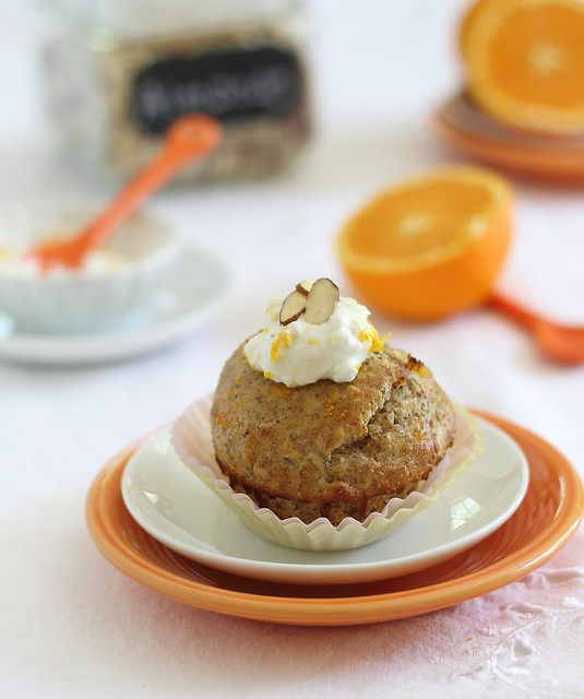 Single serving orange almond muffin