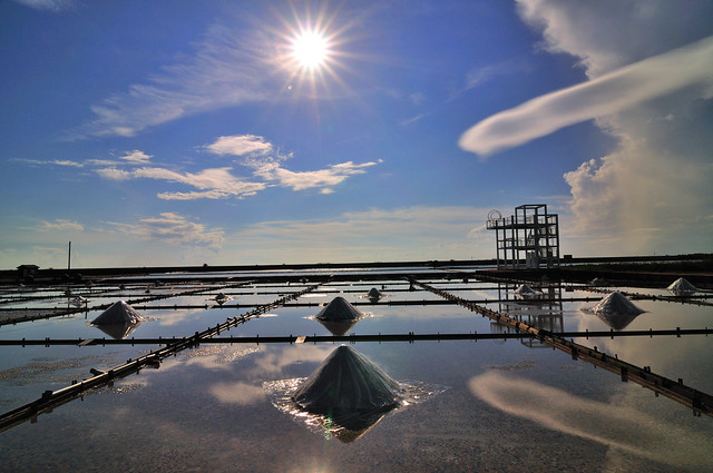 Reflection on salt field 曬鹽...Haha