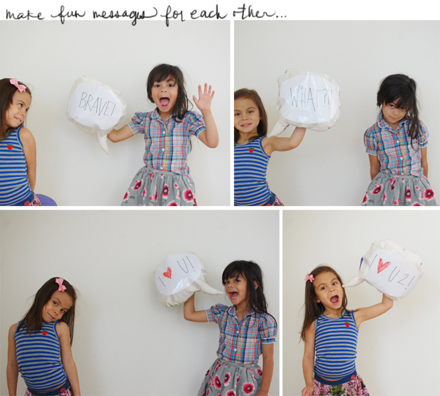 diy: speech bubble pillows