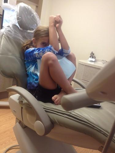 Karli at the dentist