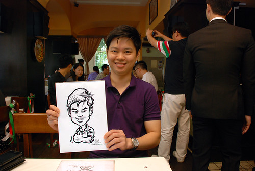 Caricature live sketching at La Noce Italian Restaurant -4