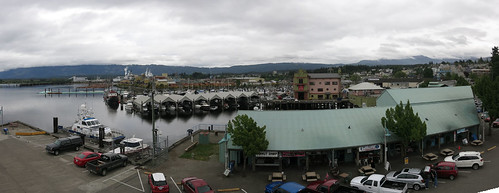 panorama canada tower clock vancouver port island bc view alberni