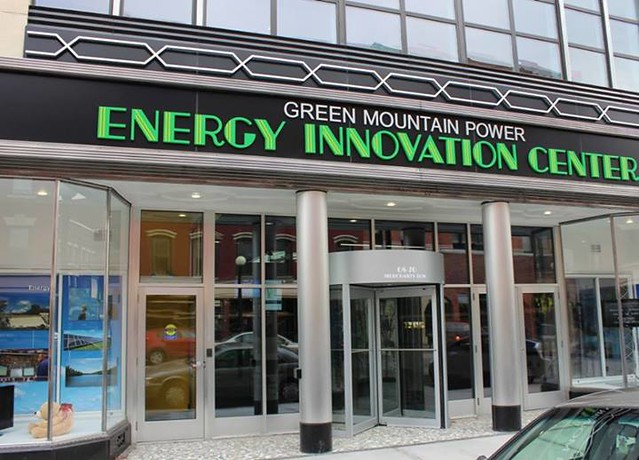 GMP's Energy Innovation Center, Rutland, VT (courtesy of Green Mountain Power)