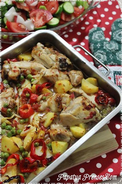 fırında sebzeli tavuk (1)