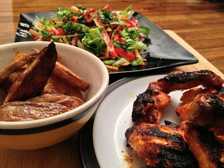 Peri Peri Chicken Salad and Chips