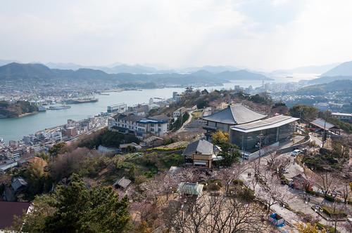 2009 尾道市 広島県 旅行 桜 海 瀬戸内海 風景 日本 travel japan hiroshima sea landscape 春 spring setoinlandsea cherryblossom nikond90