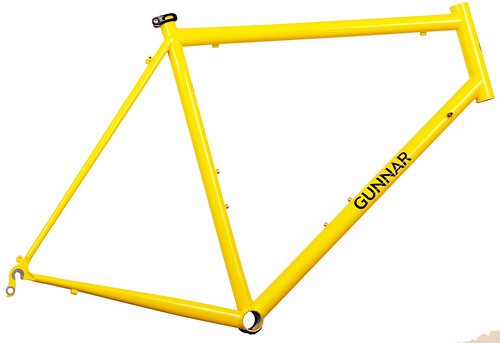<p>Gunnar Roadie Custom in Gunnar Yellow.  This frame, with made to measure fit snd custom braze-ons, sports Gunnar's classic Yellow, a color that communicates both joy and power.</p>