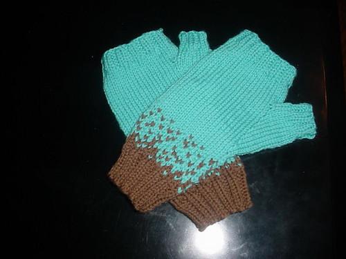 robin's egg mitts