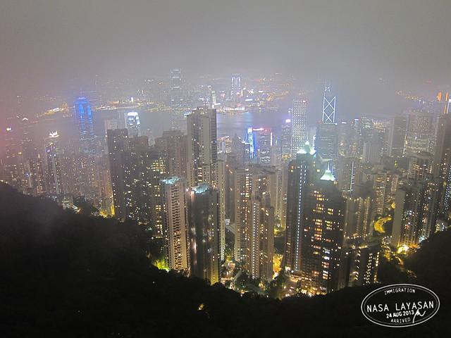 Foggy Hong Kong Skyline