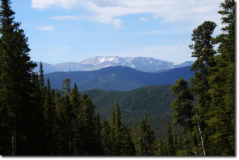 Mount Evans from St.Mary's Glacier trail