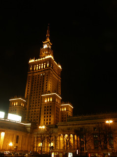image of the palace of culture and science warsaw night