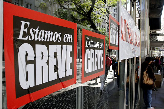 Huelga de bancarios en Porto Alegre, estado de Rio Grande del Sur - Créditos: Foto: Brayan Martins/ PMPA