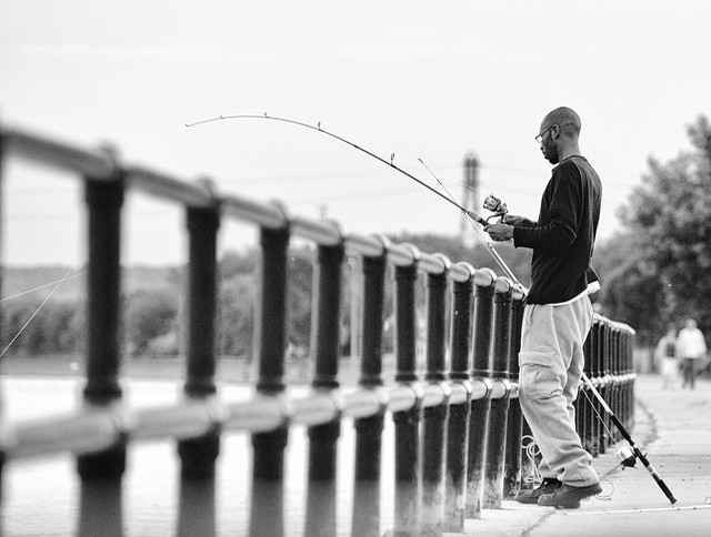 Fishin' on the Mississippi River