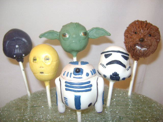 Star Wars Cake Pops Inspired by my husband who LOVES ...