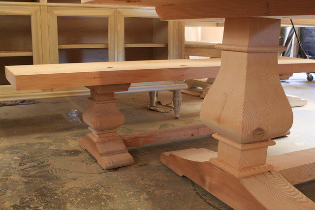 Custom reclaimed wood dining table and bench mortise and for Reclaimed wood furniture los angeles