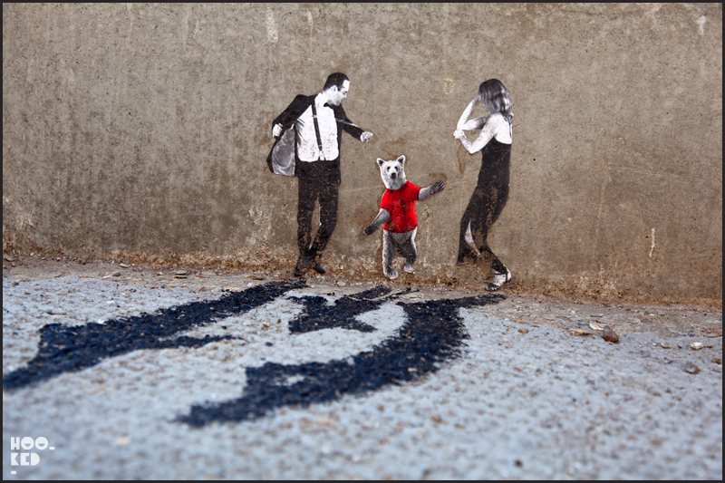 Shoreditch Street Art, Mexican artist Pablo Delgado Miniature Street Art