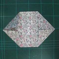 วิธีพับกระดาษรูปหัวใจคู่ (Origami Double Heart)  008
