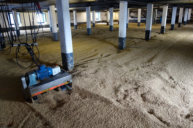Maltings floor at Laphroaig Distillery, Islay, Scotland