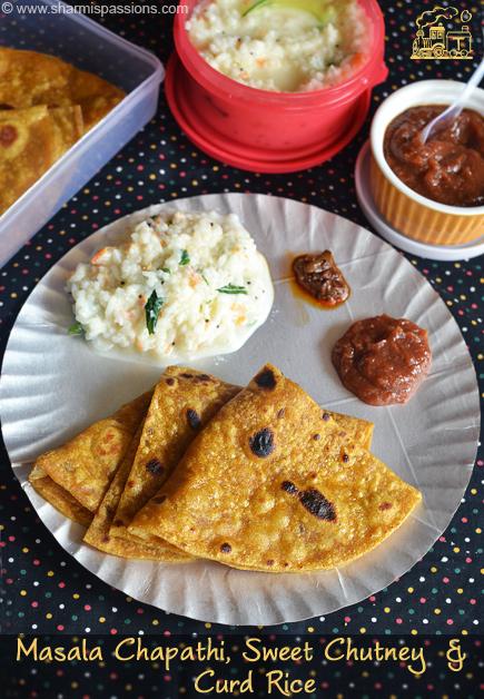 Masala Chapathi and Sweet Chutney