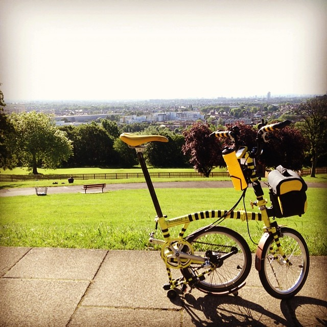 Amazing view from ally pally. #nightriderldn2014 #urban #bromptonbicycle