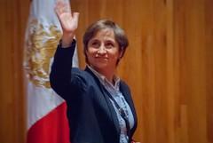 Carmen Aristegui recibe el galardón 'Corazón de León' ①