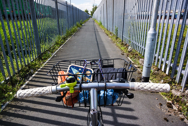 Grim industrial cycle route near Warrington