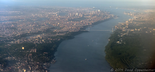 Hudson River and New York City Aerial Photo