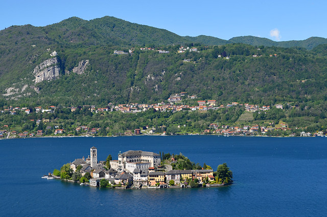The Isola di San Guilio and Lake Orta, Italy