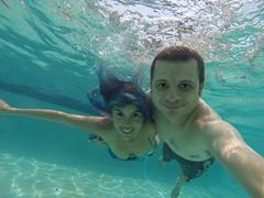 Swimming in the Pool - Radisson Aruba