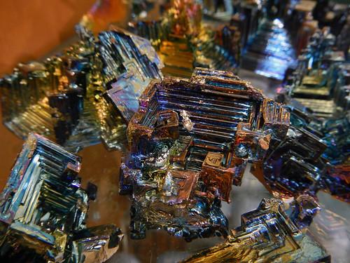 Bismuth crystals in a gem store in Banff
