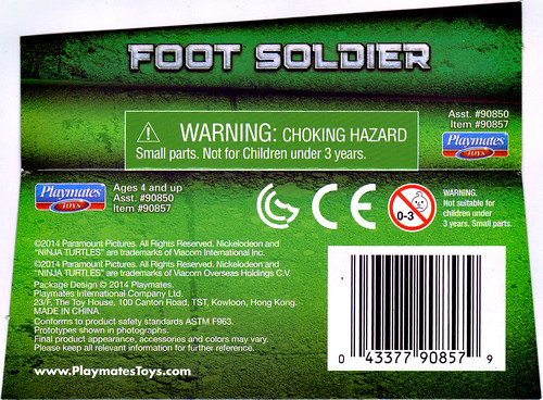 """NINJA TURTLES"" Movie :: FOOT SOLDIER ..card insert (( 2014 ))"