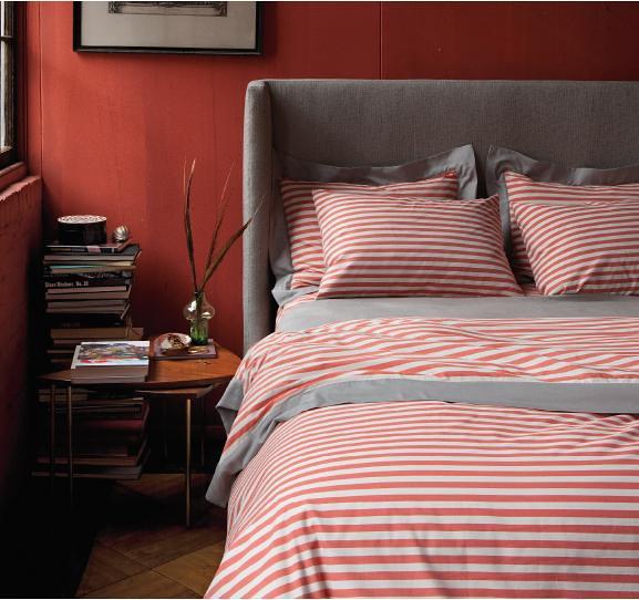 Gray Red Bedroom Dwell Studio 39 Draper 39 Duvet In Poppy