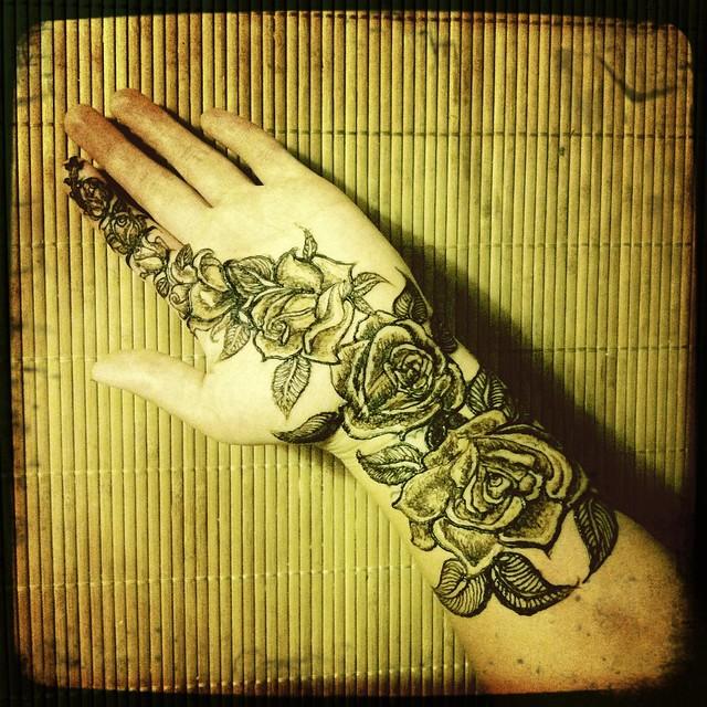 Rose henna volcano henna by melissa banford volcanohenna for Rose henna tattoo