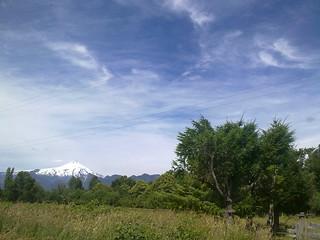 En el camino y en el horizonte, Volcán Villarica.