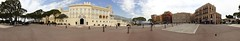 Panorama of Prince's Palace of Monaco