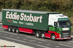 Volvo FH 6x2 Tractor with 3 Axle Curtainside Trailer - PX11 CJE - H4783 - Elizabeth Agnes - Eddie Stobart - M1 J10 Luton - Steven Gray - IMG_4440