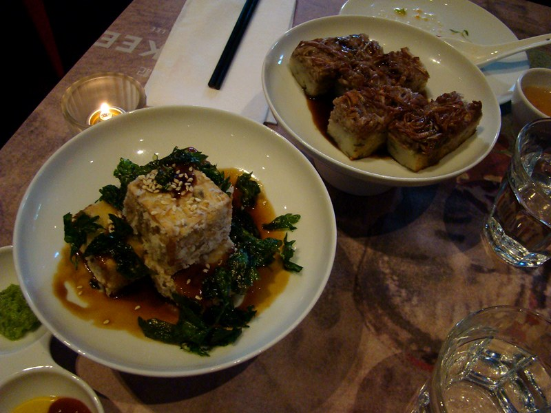 Luckee dim sum tofu and crispy taro cake