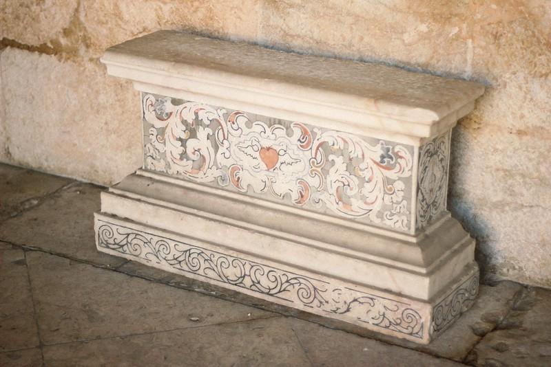 decorated slab jeronimos monastery