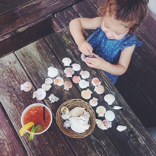 bloody mary + seashells