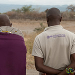 Gap Adventures CEO with Masai Man - Lake Manyara, Tanzania