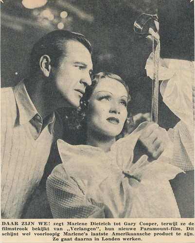 marlene  Dietrich, Gary Cooper