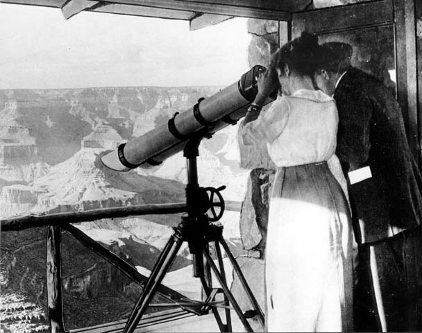 11822 Grand Canyon Historic Lookout Studio Interior c. 1915