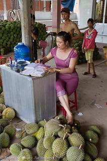 Durian Wholesaler, Mekong Delta, Vietnam