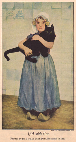 Girl With Cat by Paul Hoecker in 1887